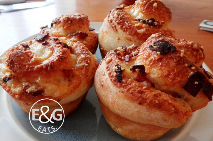 Cheese and Bacon pinwheel buns